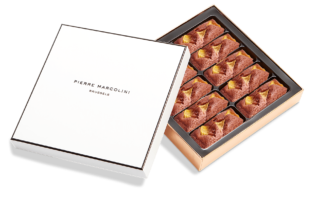 Coffret de 10 Financiers Mangue-Chocolat Pierre Marcolini