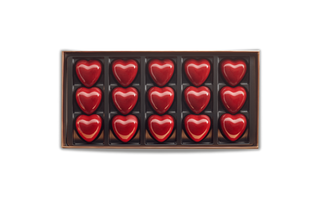 Box of 15 Hearts of Dark Chocolate Pierre Marcolini