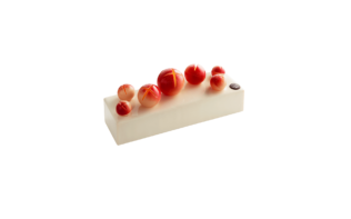 Rose-Passion Fruit Sleigh Bell Yule Log Pierre Marcolini