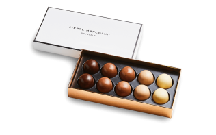 Box of 10 iced Pralines Pierre Marcolini