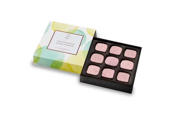 Box of 9 Raspberry Songes Pierre Marcolini