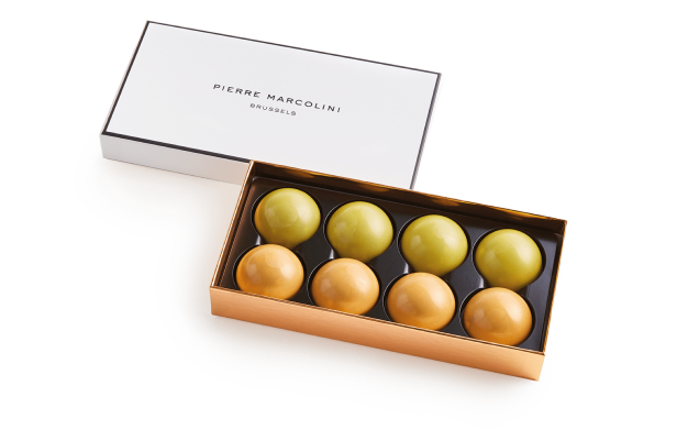 Box of 8 Melove Cakes with Tea Pierre Marcolini