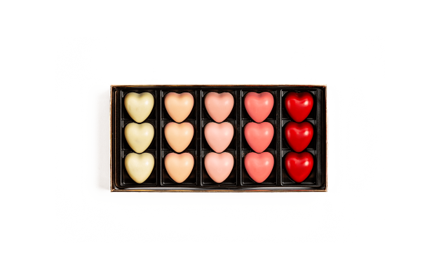 Box of 15 Valentine's Hearts Pierre Marcolini
