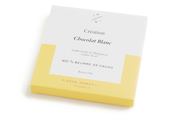 White chocolate tablet Pierre Marcolini Bean to bar