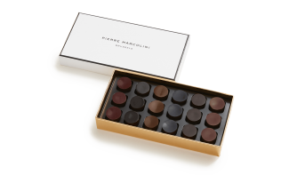 Box of 18 chocolates Rare Whiskies and Rums Pierre Marcolini