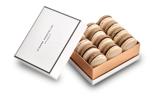 Box of 12 Pure Chocolate Macarons Pierre Marcolini